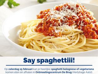 Spaghettifestijn op 15 februari