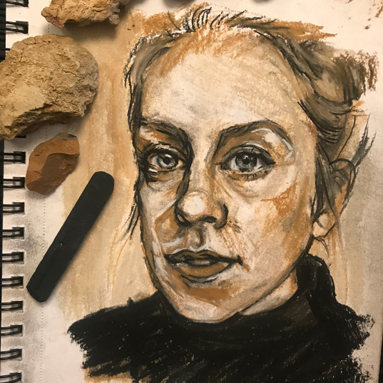Self Portrait rock study