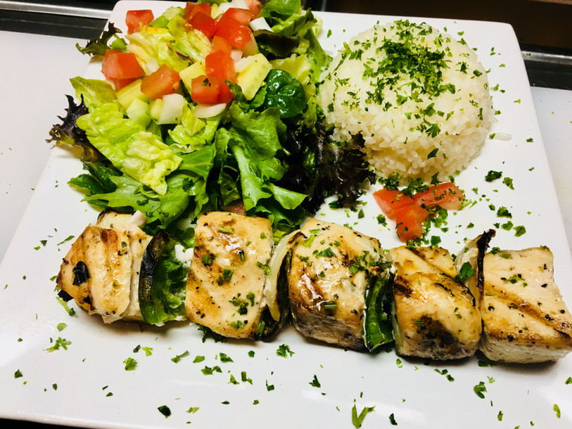 Char Grilled Sword Fish Kebab Special