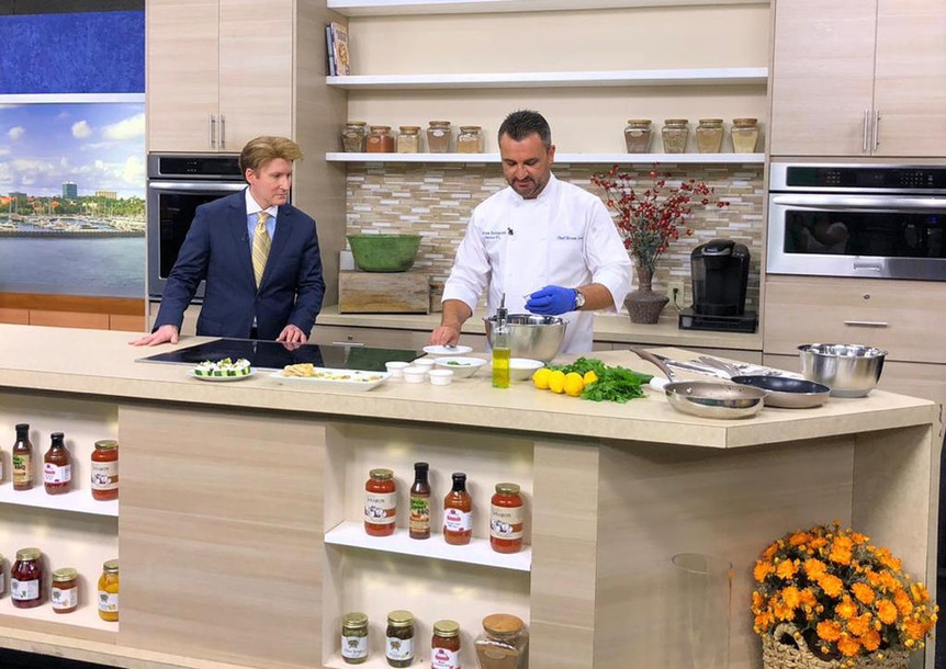 Chef Ersen on ABC7 Live Cooking Show