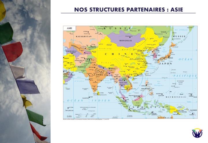 Nos structure partenaires : Asie