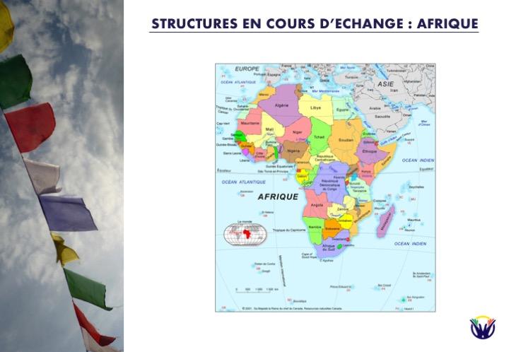 Structures en cours d'échange : Afri