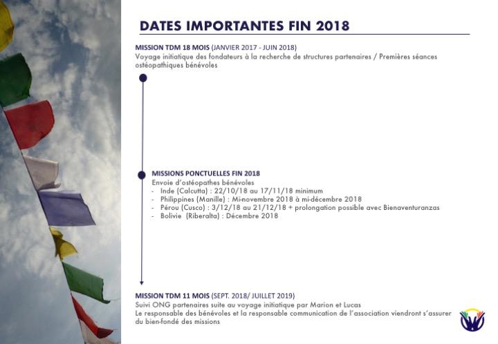 Dates importantes HOS 2018
