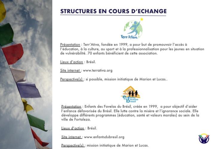 Structures en cours d'échange : Amer