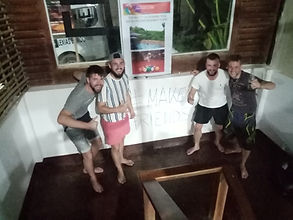 Lexias hostel el nido boys having fun