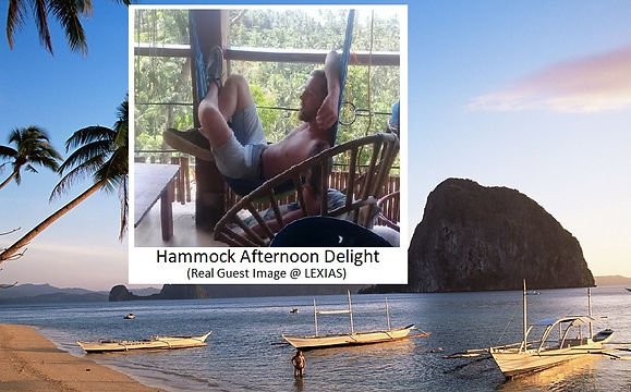 Lexias hostel el nido hammock afternoon delight