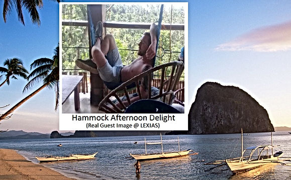 Lexias hostel el nido hammock afternoon delight
