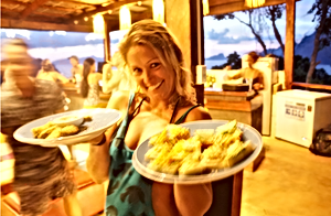 Lexias hostel el nido french fries party with a smile