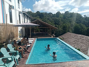 Lexias hostel el nido swimming pool