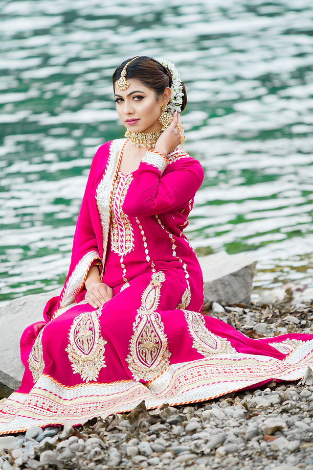 Model Irm Pakistani Bridal Outfit - Hair and Makeup Royal Glam
