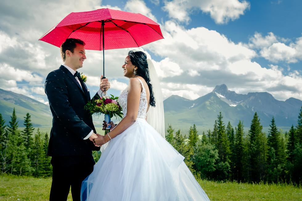Laura and Rick Elopement Wedding Photos in Kanaskis