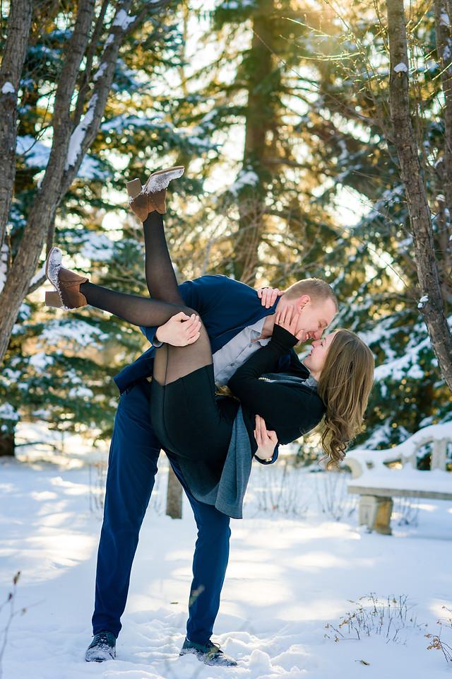 Winter Engagement Photo Session - Stunning Pose
