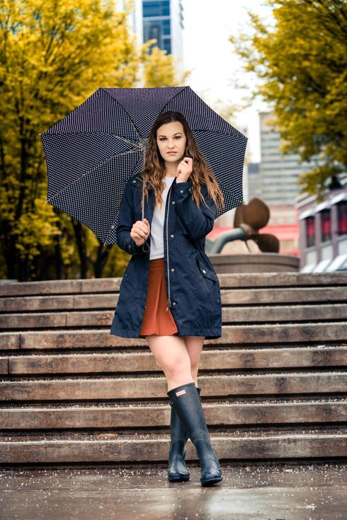 Kim Model Rainy Day Fashion