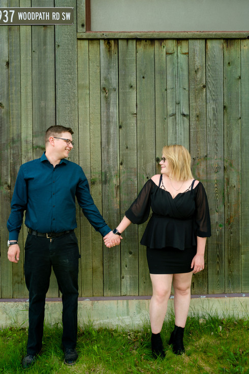 Engagement Session - Sarah and Kyle Holding Hands