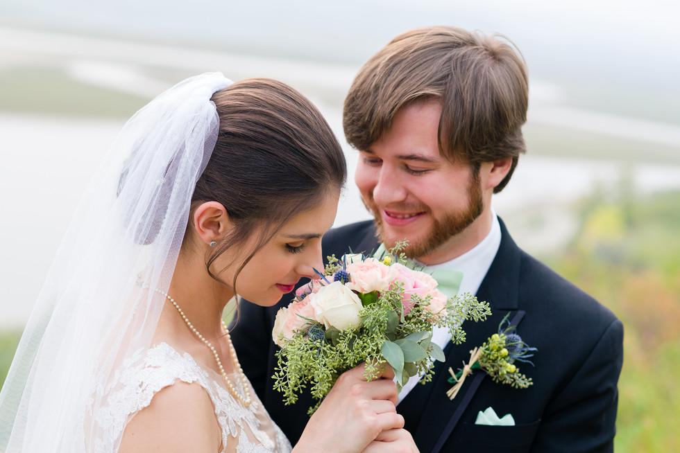 Cloe and Josh Fairytale Wedding in Calgary - Bride and Groom