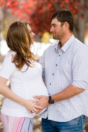 Couple Maternity Photo Session in Fall