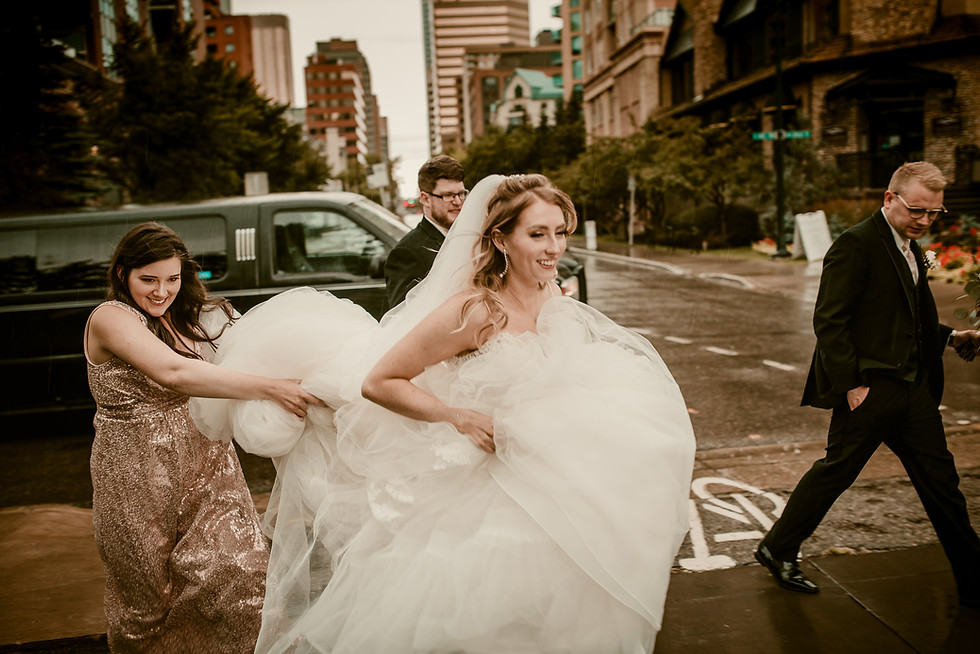 Amy and Bryce's Dream Wedding in Calgary - Bridal Photos