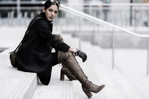 City Fashion Photo Session Model Shia in Calgary