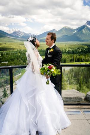 Laura and Rick Elopement Wedding Photos in Kananaskis