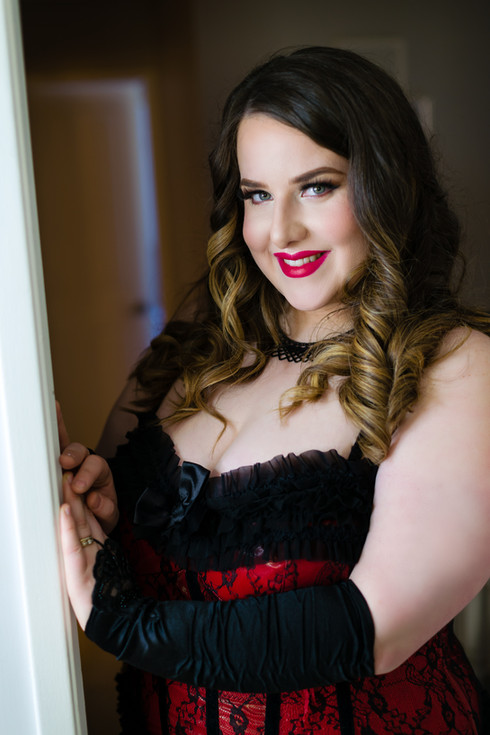Red Corset Glam Boudoir
