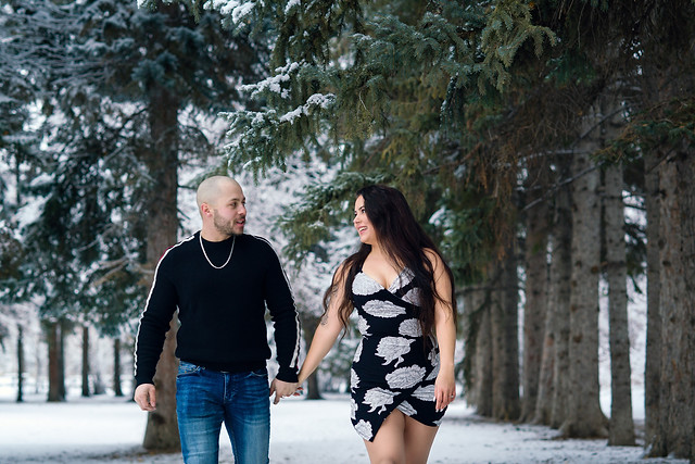 Walking in the Forest - Winter Engagement