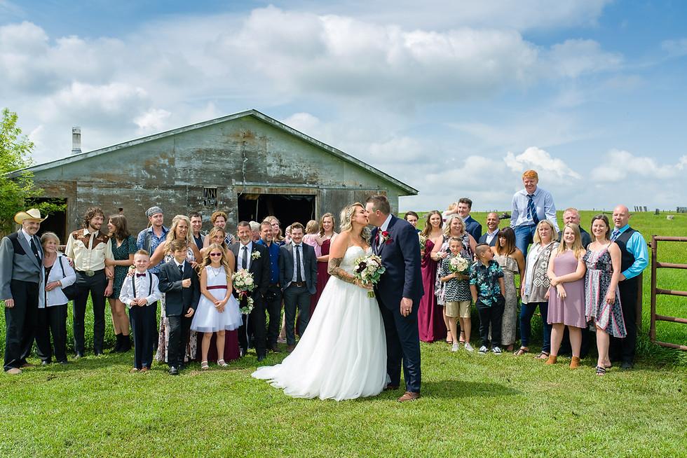 Stefanie and Tyler Rustic Barn Wedding in Rockyford Alberta - Family Photo