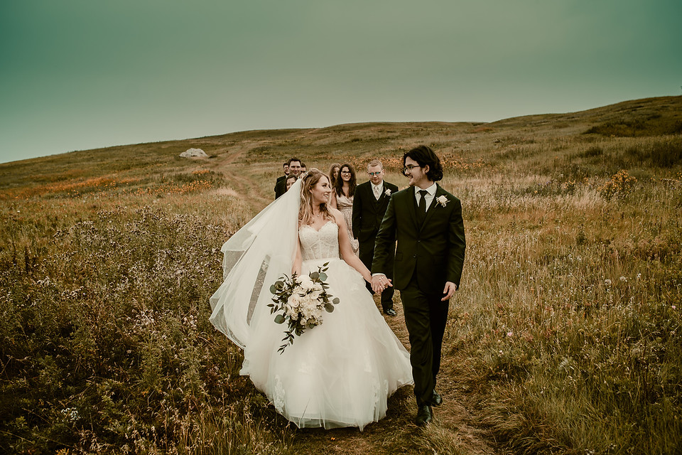 Amy and Bryce's Dream Wedding in Calgary - Wedding Party