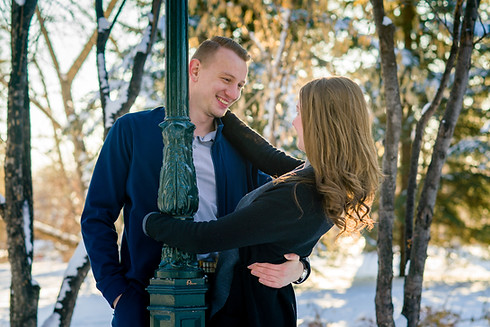 Calgary Winter Engagement - Svetlana and Konstantin