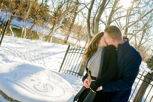 Calgary Winter Engagement - Love Note