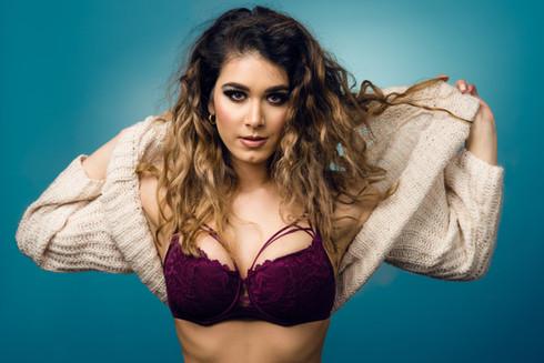Cecilia Glamour Model Studio Photo Session - Lingerie