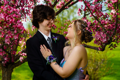 Sidney and Connor Couple Grad Photo Session