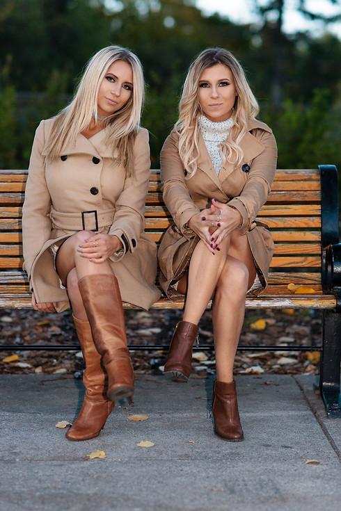Alana and Jamie Fall Fashion Photoshoot