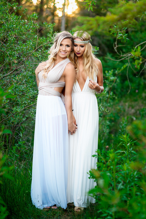 Model Photography - Alana and Jamie wearing roman themed dresses