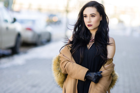High class fashion in the winter - Hailey Model