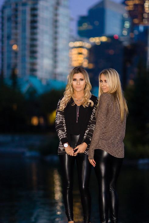 Alana and Jamie Fall Fashion Photoshoot Night Shoot