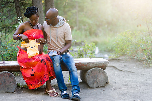 Couple Maternity in Cultural Dress