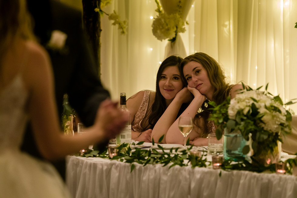 Amy and Bryce's Dream Wedding in Calgary - Sisters Looking On