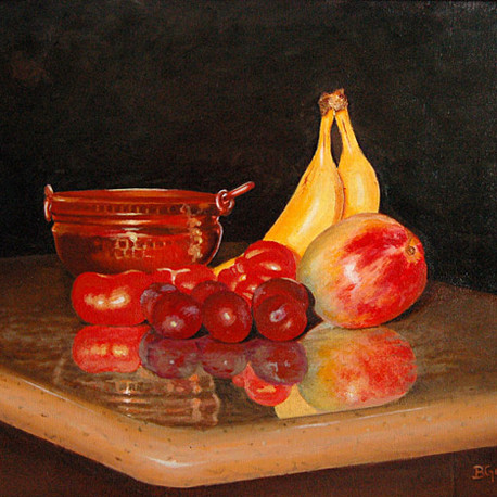 Fruits on a board