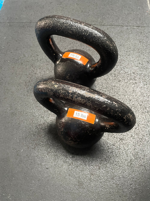 15 pound kettlebells - pair (2)