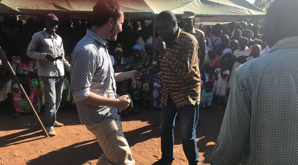 Scott Dancing at Opening of Mpunde Health Center