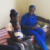 ETH nurse Zubeidah taking a look at a pa