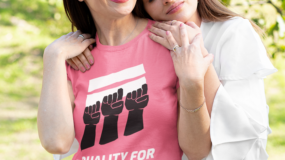 """Women's short t-shirt """"Equality for All"""""""
