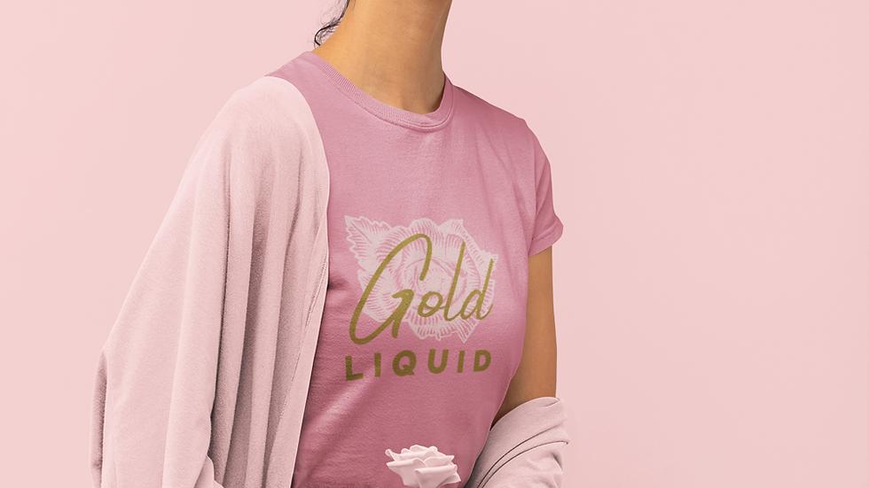 """Women's short sleeve """"Gold Liquid"""" t-shirt"""