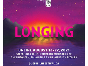 Out On Screen Announces Dates for Vancouver Queer Film FestivalAugust 12-22, 2021