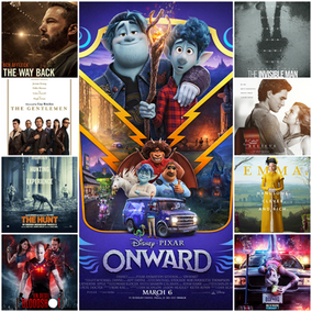 Movies To Rent Now On VOD Onward, Bloodshot, Emma, The Hunt, Birds of Prey, The Invisible Man(2020)
