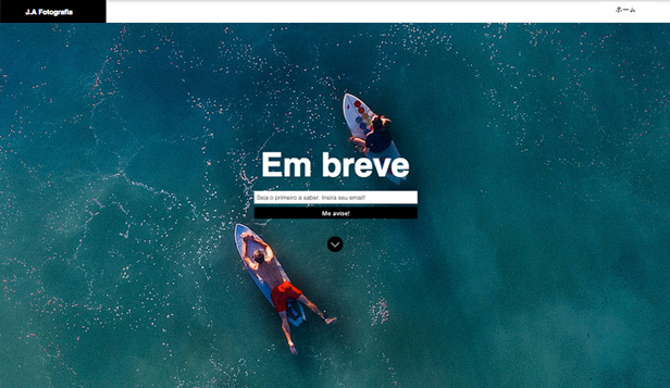Landing Pages website templates – Em Breve - Fotografia