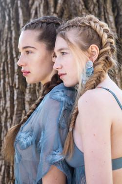 loose fishtail & dutch braids