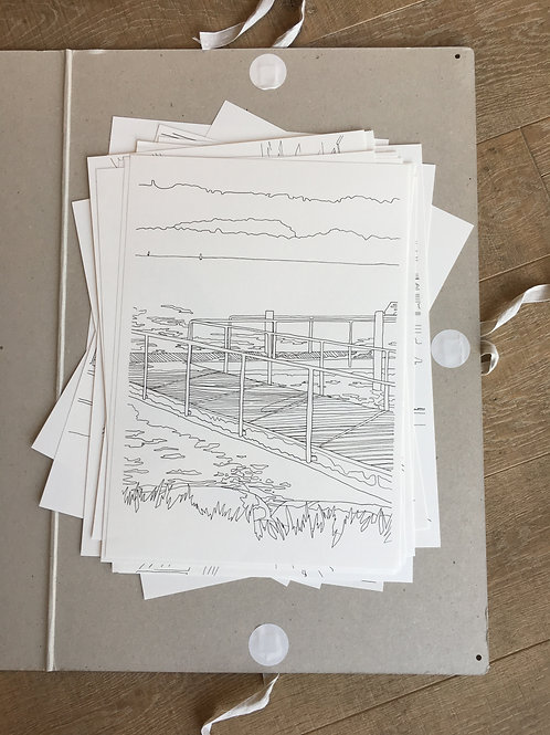 Individuelle Illustration handgemacht A3