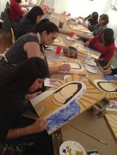 Art Students at work