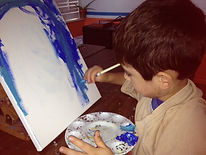 Painting art class for kids ages four to seventeen in McAllen, Texas